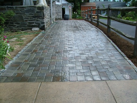 Paver Driveway Construction Including Permeable Pavers