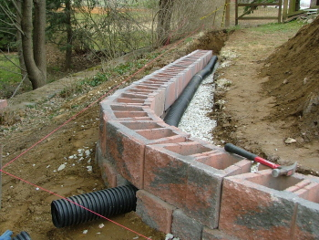 wall construction photos - Segmental Retaining Wall Design 2
