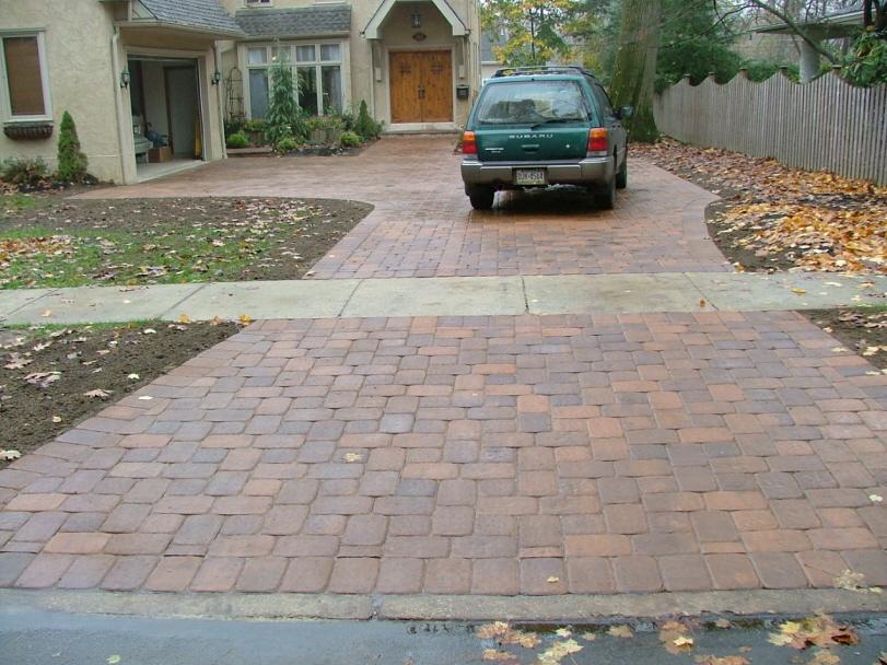 Paver Driveway Construction Including Permeable Pavers