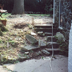 Before wall stone steps.jpg (24029 bytes)