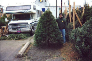 Bob with White Pine Christmas Tree