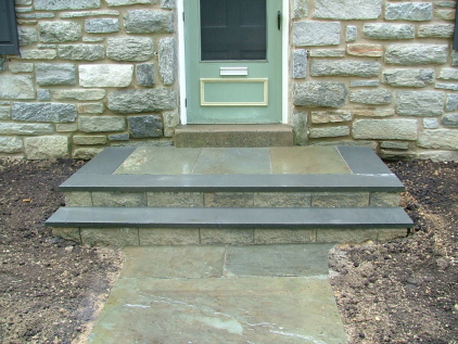 Flagstone Treads With Srw Risers Steps Or Bluestone