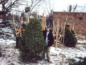 Mike K with Douglas Fir Christmas Trees.jpg (41793 bytes)
