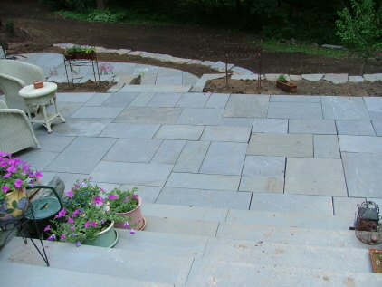 Bluestone U0026 Flagstone Patios Examples U0026 Descriptions  Newtown Square PA |  Robert J. Kleinberg Landscape Design