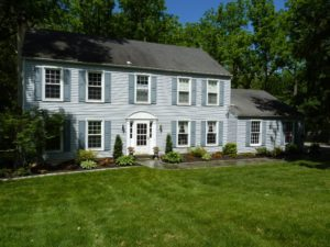 Flagstone Walk with Cobblestones, and Landscaping - Paoli, PA