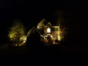 Front Entrance with Low Voltage LED Lights seen from the street