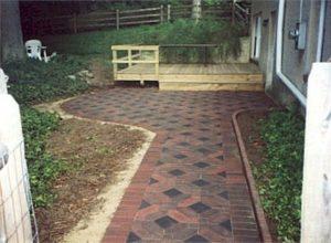 new brick patio and walkway