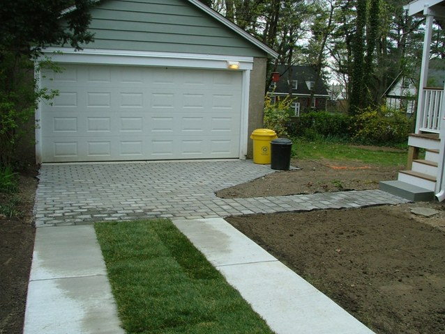 Concrete And Grass Driveway