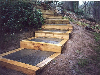 Examples of five different types of bluestone flagstone for Steps to building a house from the ground up