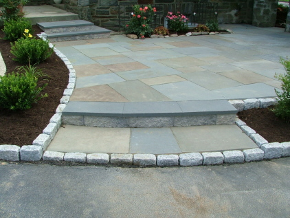 Beau Close Up Of Cobble Stone Step And Border: